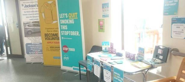Kirklees Quit Team out and about for Stoptober 2016