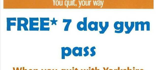 Free 7 Day Gym Pass when you Quit with Yorkshire Smokefree Doncaster