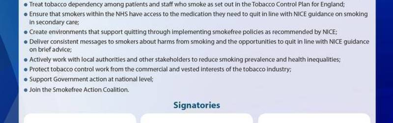 Launch of NHS Smokefree Pledge